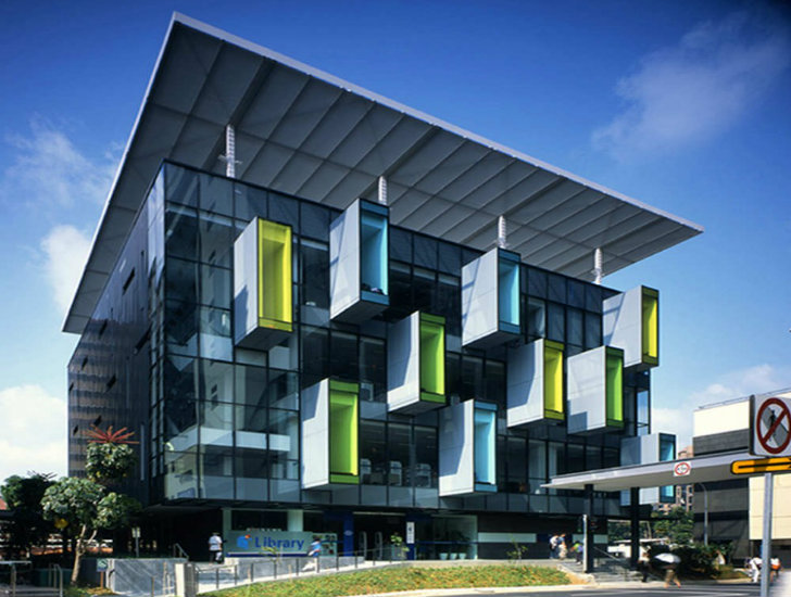 Pod Tastic Bishan Public Library Is A Colorful Energy Efficient Addition To Singapore Architecture