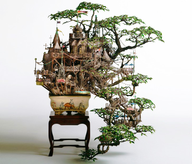 Takanori Aibas Amazing Bonsai Tree Castles Are Miniature Living Worlds
