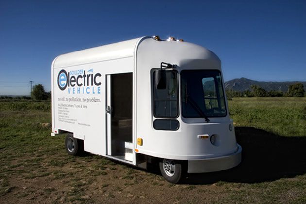 Electric Vehicle, Boulder Electric Vehicle, Zero Emmisions Vehicle, First Electric Truck, American made, Commercial Electric Vehicle, Commercial EV