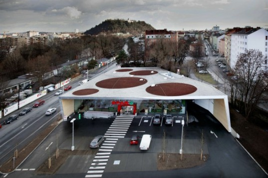Climate Protection Supermarket, Love Architecture, eco supermarket, green grocery story, net zero, renewable energy, austria