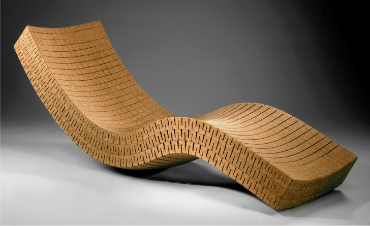DMFDs Amazing Curved Chaise Lounge Is Made From Recycled Cork