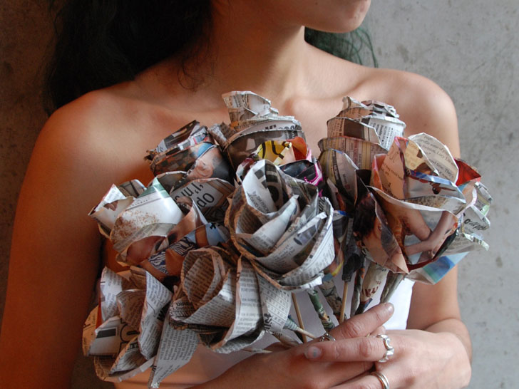 Charm Your Valentine With Recycled Paper Roses From Lower East Side