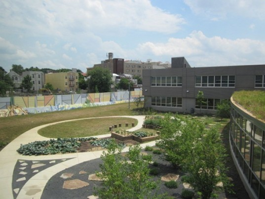 KCAPA, SMP Architects, Kensington Creative and Performing Arts HIgh School, philadelphia, eco school, green school