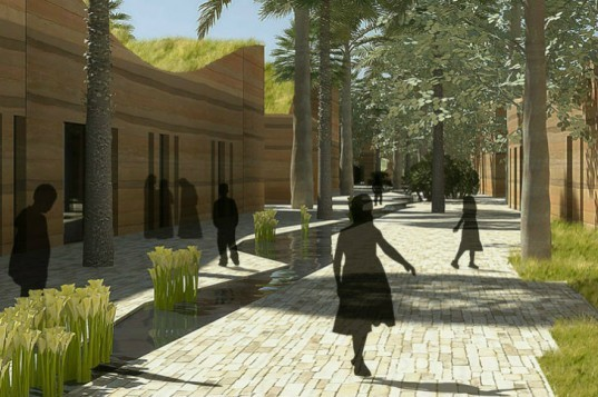 Kuwait University Model School, Perkins Will, living laboratory, eco school, green roofs, kuwait