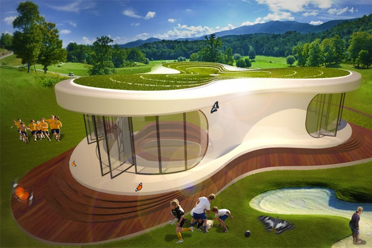 Ultimate Classroom Design ~ Lava s green roofed prefab is the ultimate classroom of
