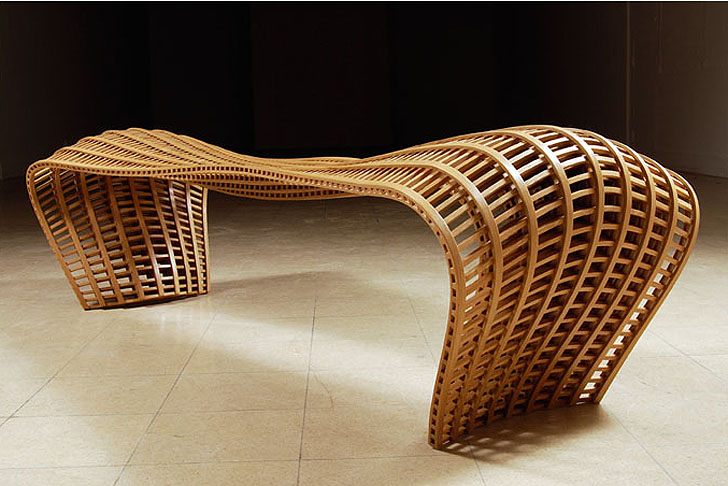 Matthias Pliessnig Steam Bends Strips Of Wood Into