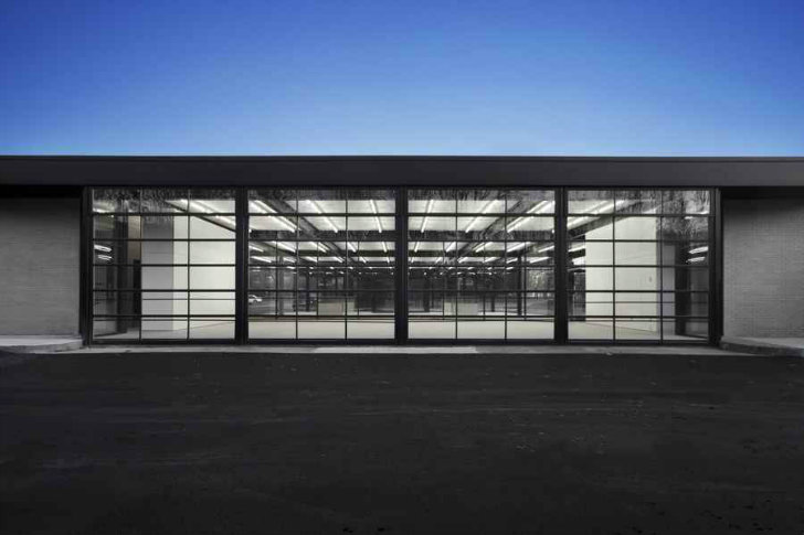 Glass Clad Mies Van Der Rohe Gas Station Converted Into A Youth