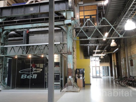 Garage Design Montreal: Montreal Train Factory Transformed Into LEED Office