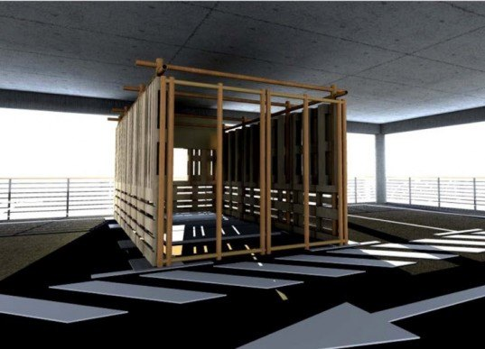 The Fukushima Emergency Project, the Architecture School of Bordeaux, France, pop-up shelter, emergency relief shelter, disaster relief design, humanitarian design, emergency relief design, emergency shelters, disaster shelters