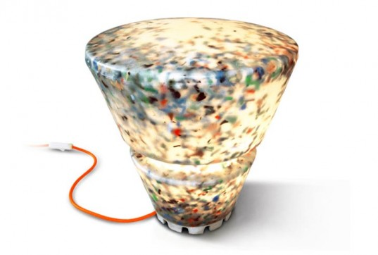 Rodrigo Alonso's recycled e-waste N+ew lights
