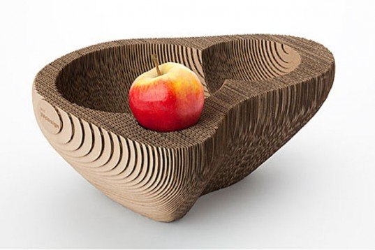 DIY, Green Materials, Green Products, Recycling / Compost, open sources design, free diy manual, Dutch design, recycled cardboard, recyclable cardboard, Utrecht, fruit bowls, SEMdesign, sylvie van de loo, faceted, biodegradable, compostable, fruit bowl