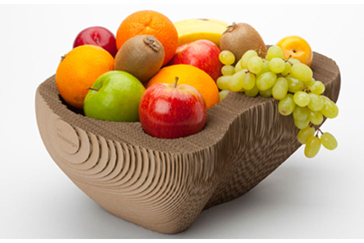 128 Cardboard A Clever Recycled Cardboard Fruit Bowl By Semdesign