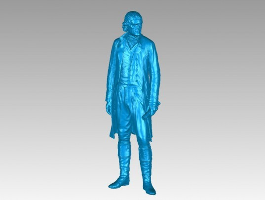 green design, eco design, sustainable design, Smithsonian Insitute, 3d printing, National Museum of African American History and Culture, Thomas Jefferson Statue, Thomas Jefferson statue replica, 3d scanned museum digital archive, RedEye on Demand, Studio EIS