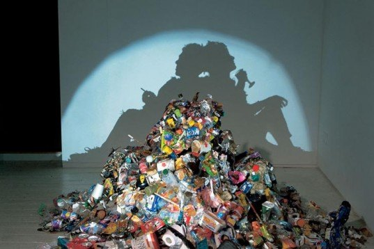 Recycled Materials, Art, taxidermy, found objects, recycled objects, british art, controversial art, Tim Noble & Sue Webster, recycled packaging, scrap metal, crazy art, dead animals, found objects, shadow paintings, british wildlife