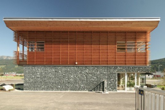 WLV Leizen, Kreiner Architektur, austria, avalanche center, sustainable construction, flood and avalanche control center