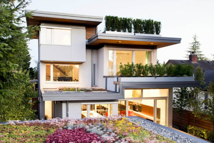 Leed Home green roofed vancouver residence is the first leed platinum home