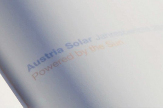 solar power, austria solar, serviceplan ad, serviceplan design, creative advertising, invisible ink. annual reports, bureaucratic paper-work, sun powered