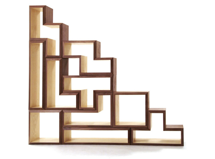 7 Gorgeous Green Home Furnishings Tetris Shelves By Brave Space Designs U2013  Inhabitat   Green Design, Innovation, Architecture, Green Building