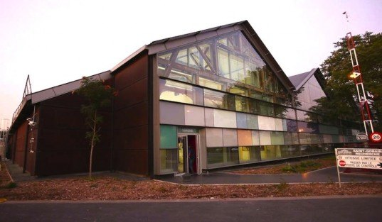 Encore Heureux, DomoLab, France, solar power, 19th century barn, Saint-Gobain, research center, green design, energy efficiency, thermal insulation, glazing, insulation, green design, sustainable design, eco-design, airtight, heat transfer