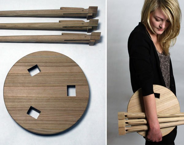 Brilliant The Wooden Asta Stool Is A Simple Seat Inspired By Carpentry Theyellowbook Wood Chair Design Ideas Theyellowbookinfo