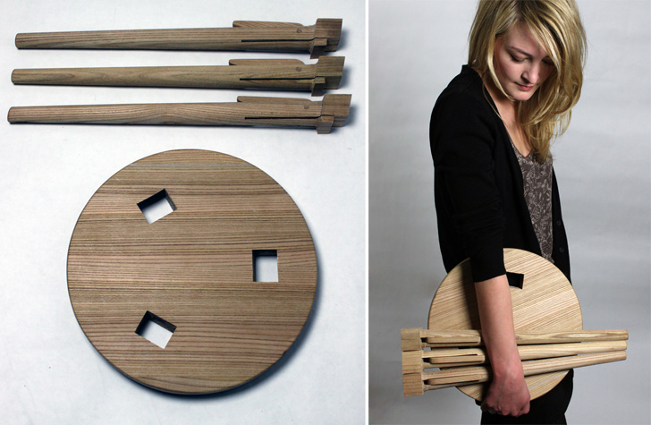 The Wooden Asta Stool Is A Simple Seat Inspired By