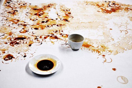 Hong Yi, Malaysian Art, Coffee Art, Coffee Painting, Jay Chou, I See Red, Unusual art materials, Painting with Coffee, Coffee Stains
