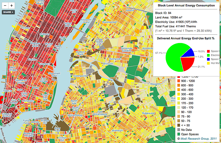 Interactive Map Of New York City.New Interactive Map Shows How Much Energy Every Building In Nyc Uses
