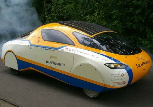 SolarWorld GT, arrives US, solar car world record, solar powered car crosses US, world tour, Bochum University of Applied Sciences, solar design, sustainable vehicles, green automobile