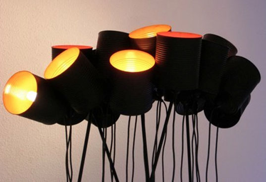 recycled lighting, recycled lamps, green lamps, eco lamps, lmnoq, stormy weather lamps, green lighting