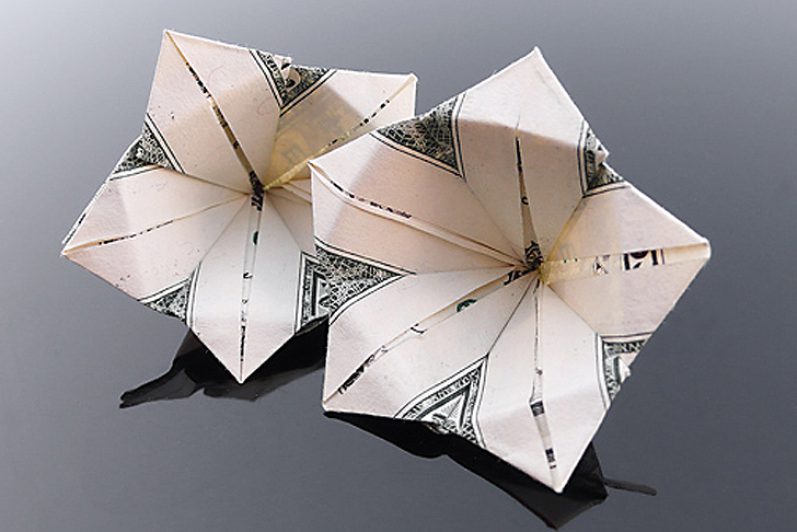 Craig folds five manipulates money into amazing origami art start slideshow mightylinksfo