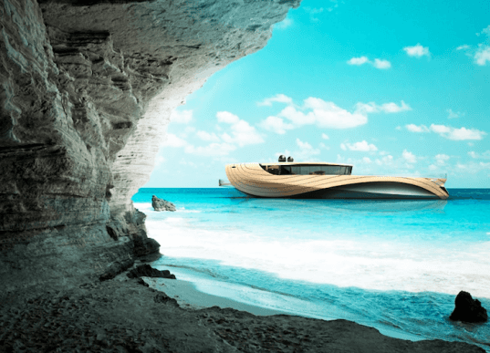 Simone Madella, Lorenzo Berselli, solar power, wind power, renewable energy, yacht, Cronos, bamboo, green design, sustainable design, eco-design, luxury design, Halite, Aeolian Harmp, Windbelt, Chin Ua Solar Glass