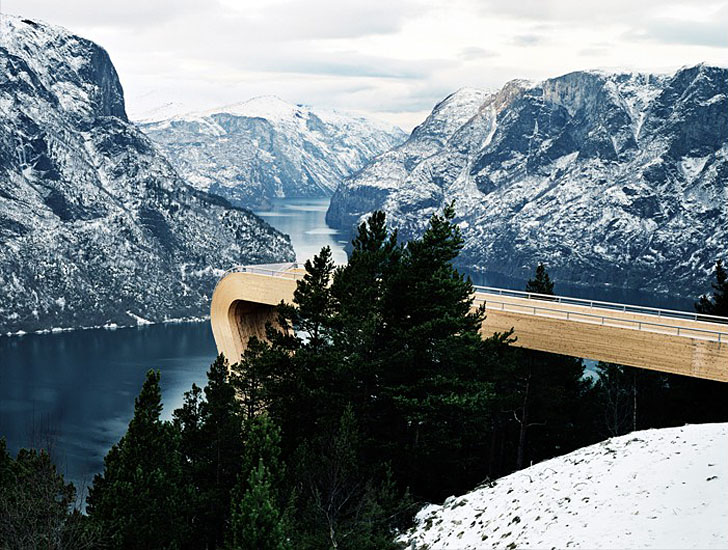 The untouched beauty of Norway's natural fjords, mountain landscapes and aurora borealis were the inspiration behind  a series of look out points commissioned by the Norwegian government themselves. Investing $377 million in the project, the lookout