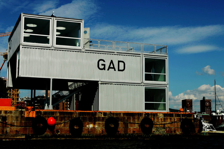 Haaz Design And Art Gallery Gad: GAD Is A Mobile Shipping Container Gallery For Traveling