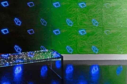 Green Home decor, Decorative Objects, energy efficiency, Interactive Objects, green graphic design, green Interiors, Green Lighting, green lighting, news, Ingo Maurer, Architects Paper, Geometric Wallpaper, LED Wallpaper, LED lights, birdie light, low energy light