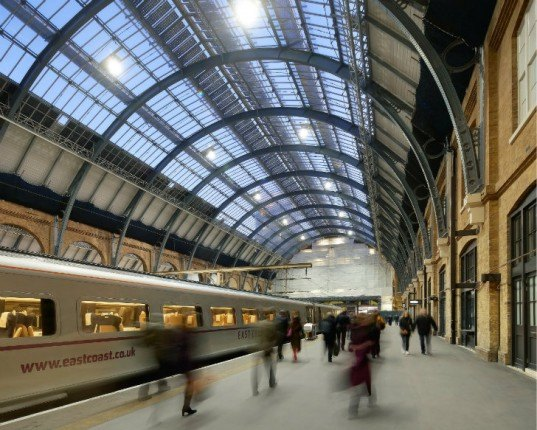 Kings Cross Station, John McAslan Partners, london, green renovation, restoration, railway station, train station,