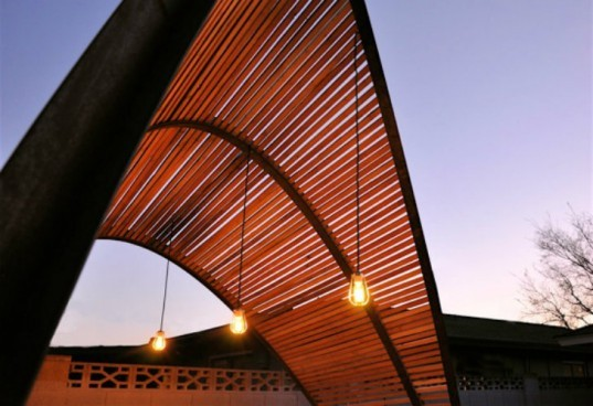 LaVance Shade Screen, Benjamin Hall, shade screen, sun shade, reclaimed wood, arizona, michael lavance