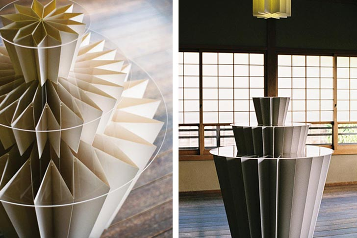 Miso Designs Beautiful Origami Tables For Kyoto S Shofudo