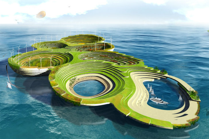 Noah's Ark is a Sustainable Floating City for a Post-Apocalyptic World