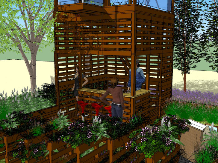 Shipping Pallet Garden Wows Visitors at the Canada Blooms Garden