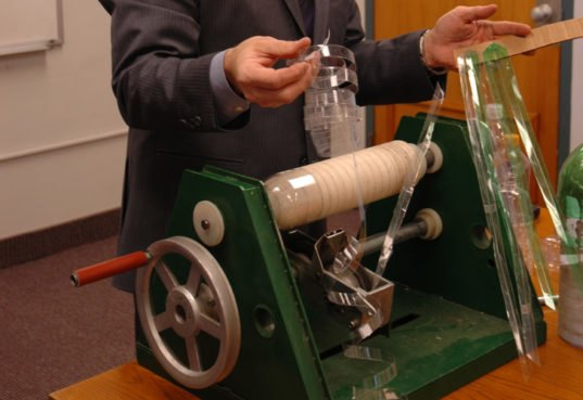 Hand Powered Machine Transforms Plastic Bottles Into