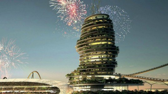 Fireworks Display, Hotel Architecture, High Rise Architecture, Real Madrid, Spanish Soccer, Spanish Football, United Arab Emirates, Artificial Islands, Holiday Resort, Resort Development, UAE Architecture, Real Madrid Resort, Florentino Perez