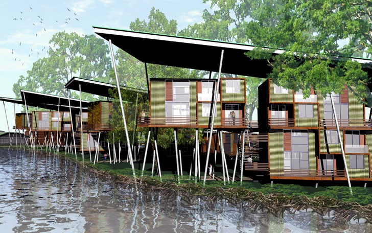 A architects design sustainable modular lightweight for Architectural modular homes