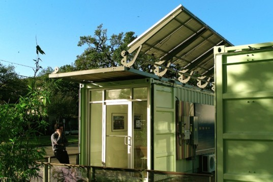 Adaptive Container, SPACE, Houston, Texas, shipping containers, recycled materials, upcycled design, green design, sustainable design, portable design, eco-design, solar power, rooftop solar panels,