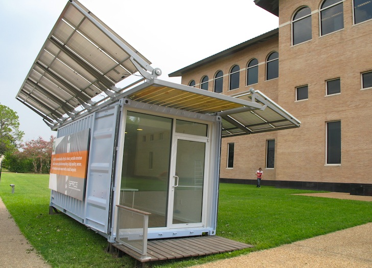 container office design. solarpowered space shipping container office produces twice as much energy it consumes inhabitat green design innovation architecture t