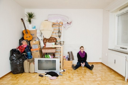 art, anticonsumerism, photography, All I Own, IKEA, Sannah Kvist, Possessions sculptures, swedish photography
