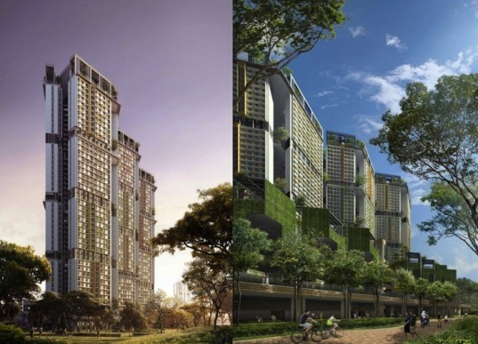 Skyville, Skyville @ Dawson, WOHA, green design, sustainable design, Singapore, social housing, affordable housing, solar power, prefab construction, green design, sustainable design, eco-design, passive design, clean energy, green development, sustainable development