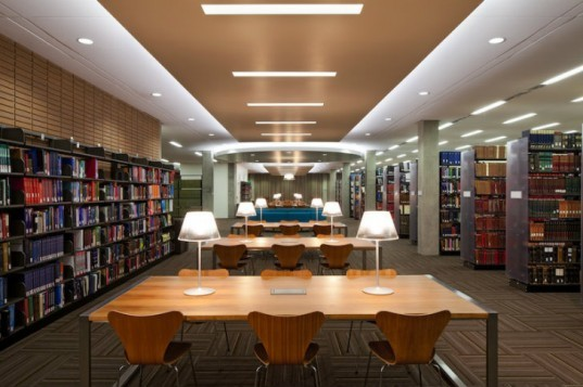 UCLA, Charles E. Young Library, Perkins+Will, eco library, green renovation, library renovation, LA