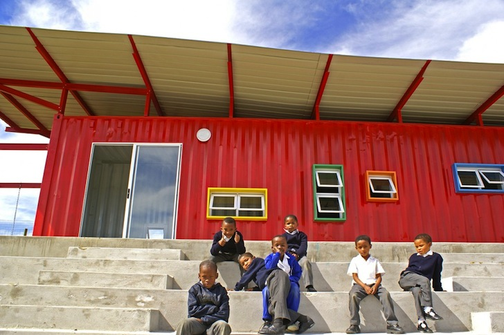 Classroom Decor South Africa ~ The vissershok school is a colorful shipping container