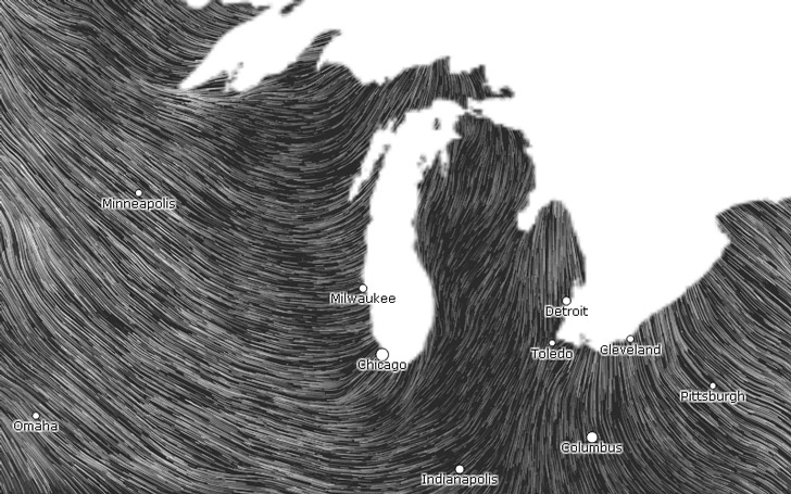 Kinetic Map Shows Real Time Wind Speeds In The Us During