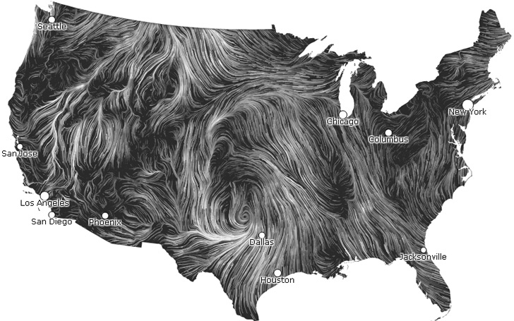 Real Time Wind Map Wind Map by HINT.FM « Inhabitat – Green Design, Innovation